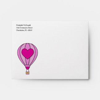 Love Hot Air Balloon A2 Envelope