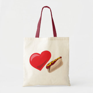 Love hot dogs!  Customizable: Tote Bags