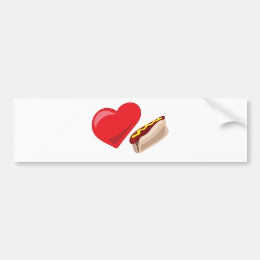 Love hot dogs!  Customizable: Bumper Sticker