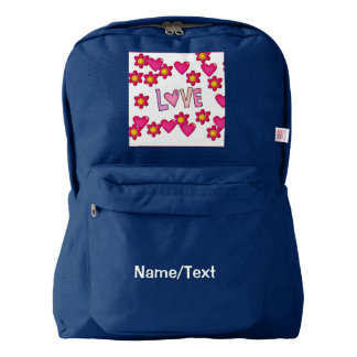 love,hot pink backpack