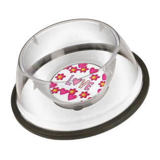 love,hot pink bowl