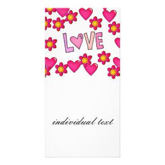 love,hot pink card