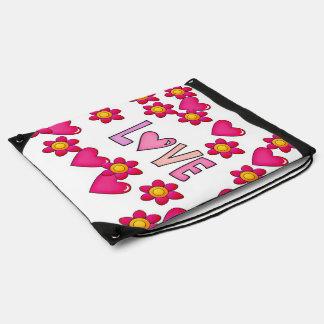 love,hot pink cinch bags