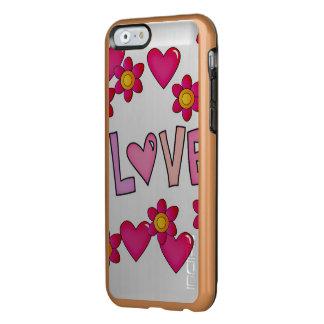 love,hot pink incipio feather shine iPhone 6 case