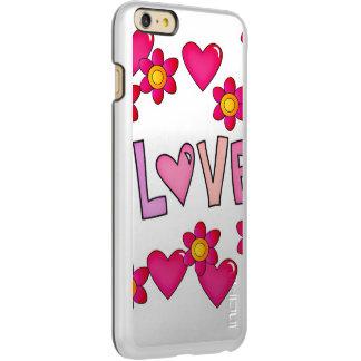 love,hot pink incipio feather shine iPhone 6 plus case
