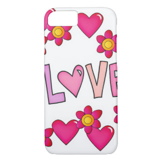 love,hot pink iPhone 8/7 case