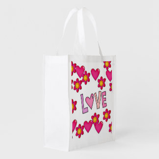 love,hot pink market tote