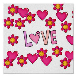 love,hot pink poster