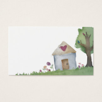 love house home garden business card