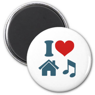 Love House Music 2 Inch Round Magnet