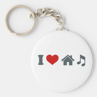 Love House Music Keychain