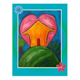 Love House Postcard