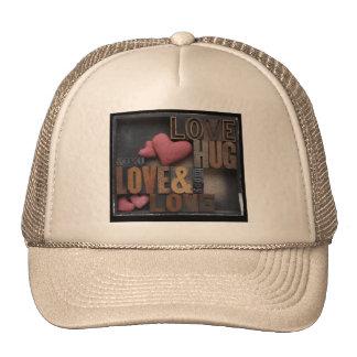 love hug hearts hat