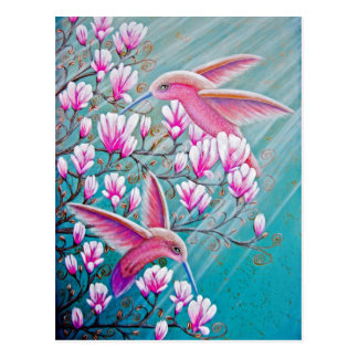 Love Hummingbird Postcard
