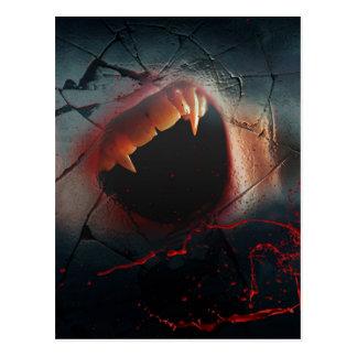 Love Hurts, Bloody Vampire Bite Postcard