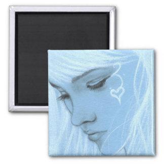 Love Hurts Blue Girl Magnet