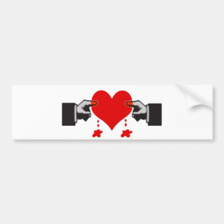 Love Hurts Bumper Sticker