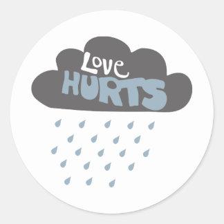 Love Hurts Cloud Classic Round Sticker
