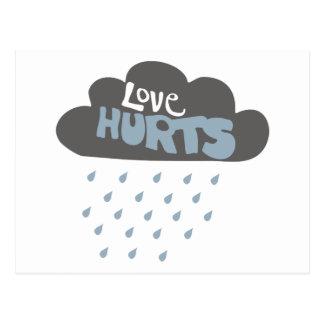 Love Hurts Cloud Postcard
