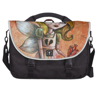 Love Hurts Dark Valentines Undead Princess Laptop Bags