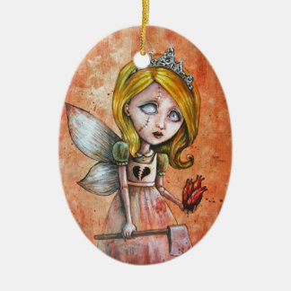 Love Hurts Dark Valentines Undead Princess Christmas Tree Ornament