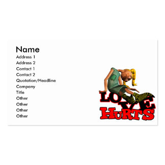 LOVE HURTS EMO POUTING GIRL Double-Sided STANDARD BUSINESS CARDS (Pack OF 100)