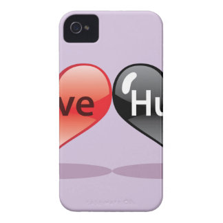 Love Hurts floating hearts red and black iPhone 4 Case-Mate Case