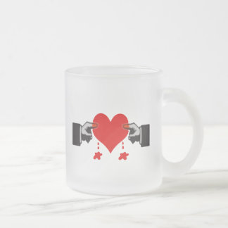 Love Hurts Frosted Glass Coffee Mug