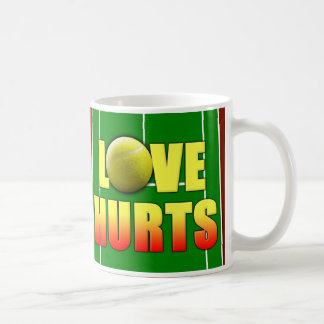 Love Hurts, Funny Tennis Coffee Mug