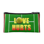 Love Hurts, Funny Tennis Cosmetic Bag
