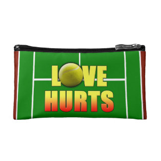Love Hurts, Funny Tennis Makeup Bag