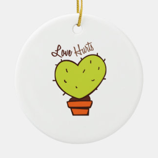 Love Hurts Double-Sided Ceramic Round Christmas Ornament