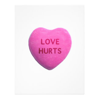 Love Hurts Pink Candy Heart Full Color Flyer