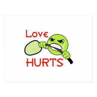 LOVE HURTS POSTCARD