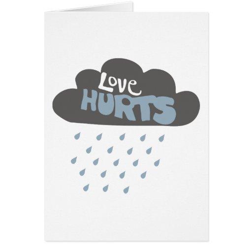 Love Hurts Raincloud Card
