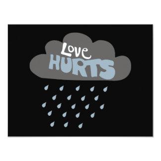 Love Hurts Raincloud Personalized Invites
