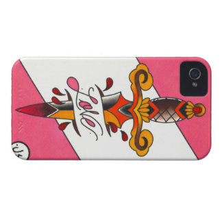 Love Hurts Traditional Tattoo Dagger iPhone 4 Cover