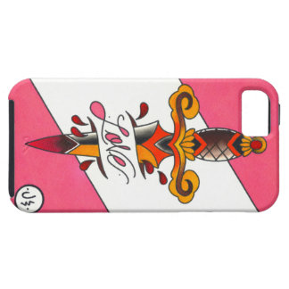 Love Hurts Traditional Tattoo Dagger iPhone SE/5/5s Case