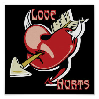 Love Hurts Wounded Heart Print
