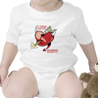 Love Hurts Wounded Heart Bodysuits