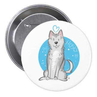 Love Husky - Badge Pinback Button