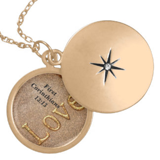 Love - I Corinthians 13:13 Gold Plated Necklace