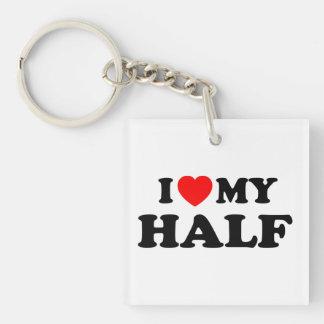 Love I heart My Half Keychain