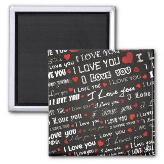 Love I Love You 2 Inch Square Magnet