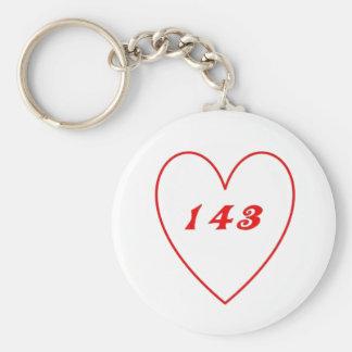 Love, I Love You Basic Round Button Keychain