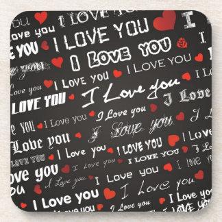Love I Love You Beverage Coaster
