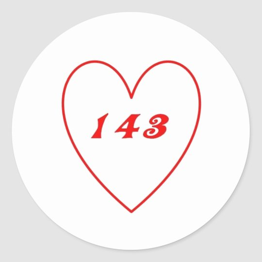Love, I Love You Classic Round Sticker