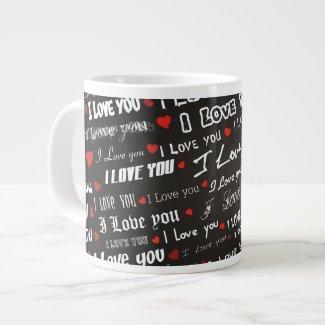 Love I Love You Extra Large Mugs