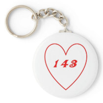 Love, I Love You Keychain