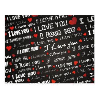 Love I Love You Postcard